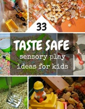 Taste Safe Sensory Play Ideas for Babies, Toddlers and Older Kids