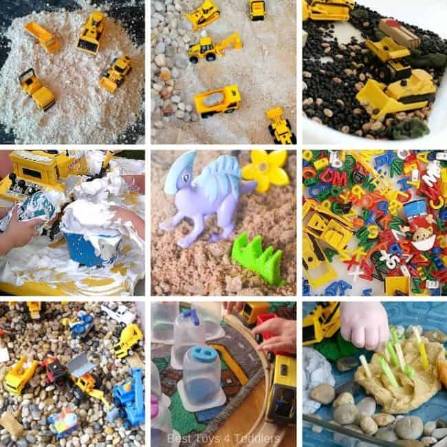 playing with different materials and textures and combining it with building toys brings a whole new experience in sensory play