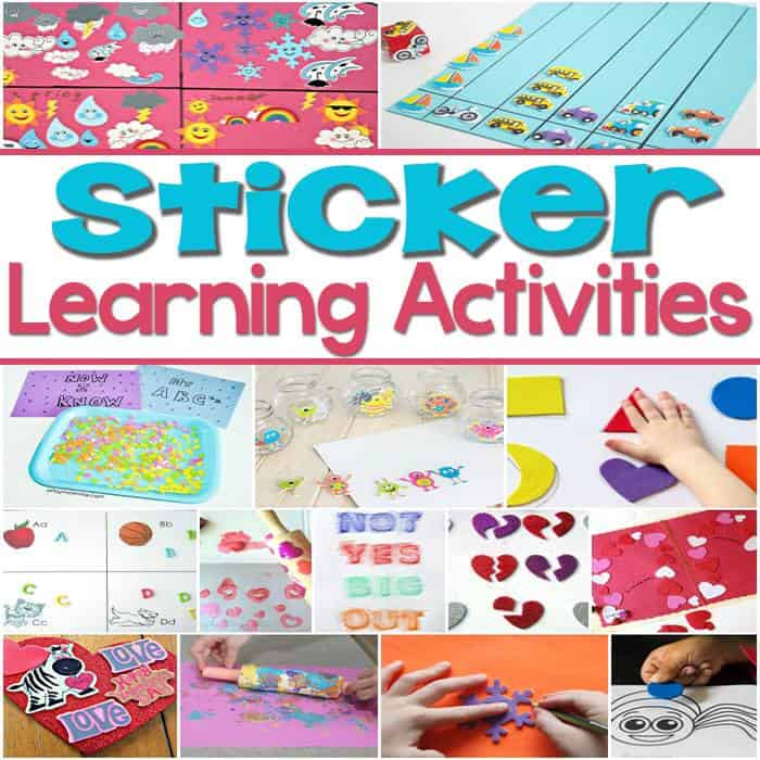 Learning activities with stickers