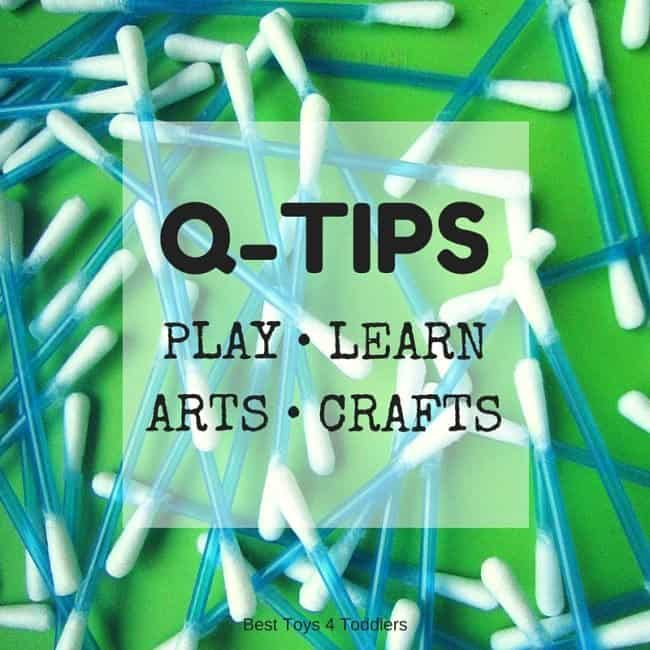 33 ideas for kids to use q-tips for sensory play, learning, arts, crafts and other fun and educational ways!