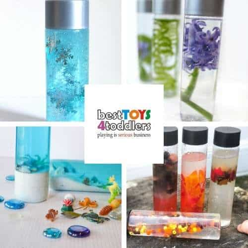 4 seasons sensory bottles for kids - mess-free way to explore changing seasons for babies and toddlers
