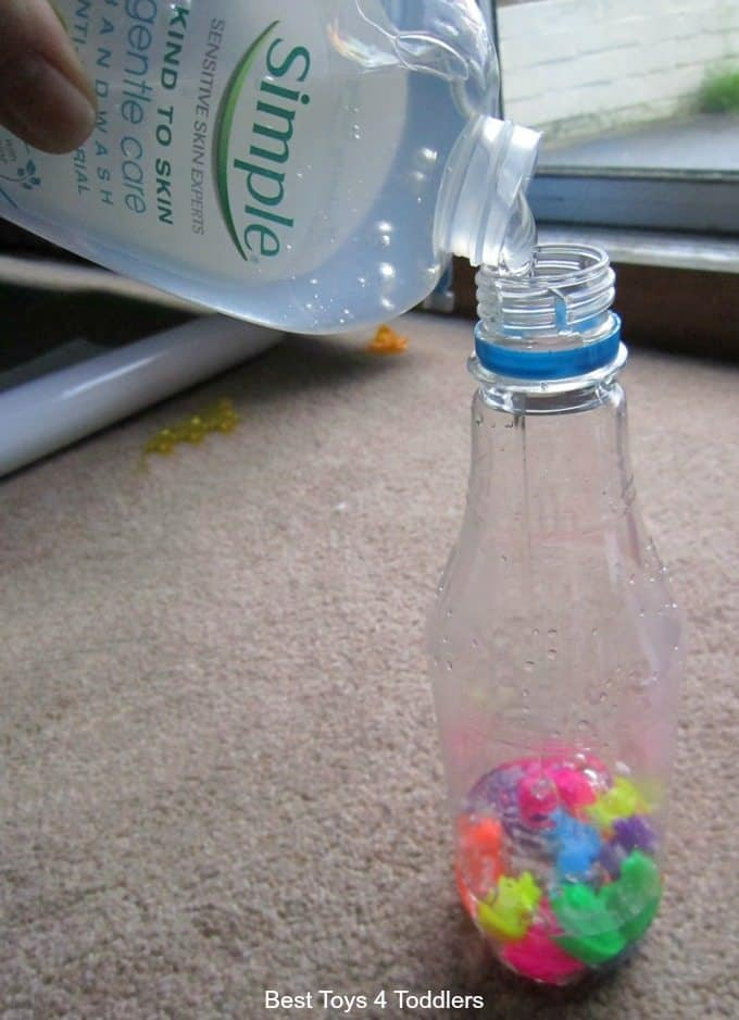 Creating a clear sensory bottle