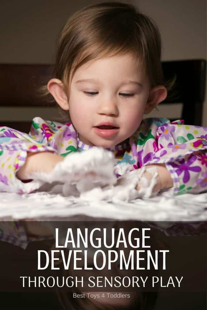 Language Development through sensory play is important for babies, toddlers and preschoolers #sensoryplay #languagedevelopment #languageskills #vocabulary #toddlerplay #babyplay