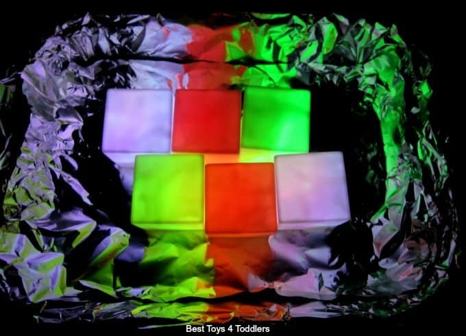 Light cube sensory play