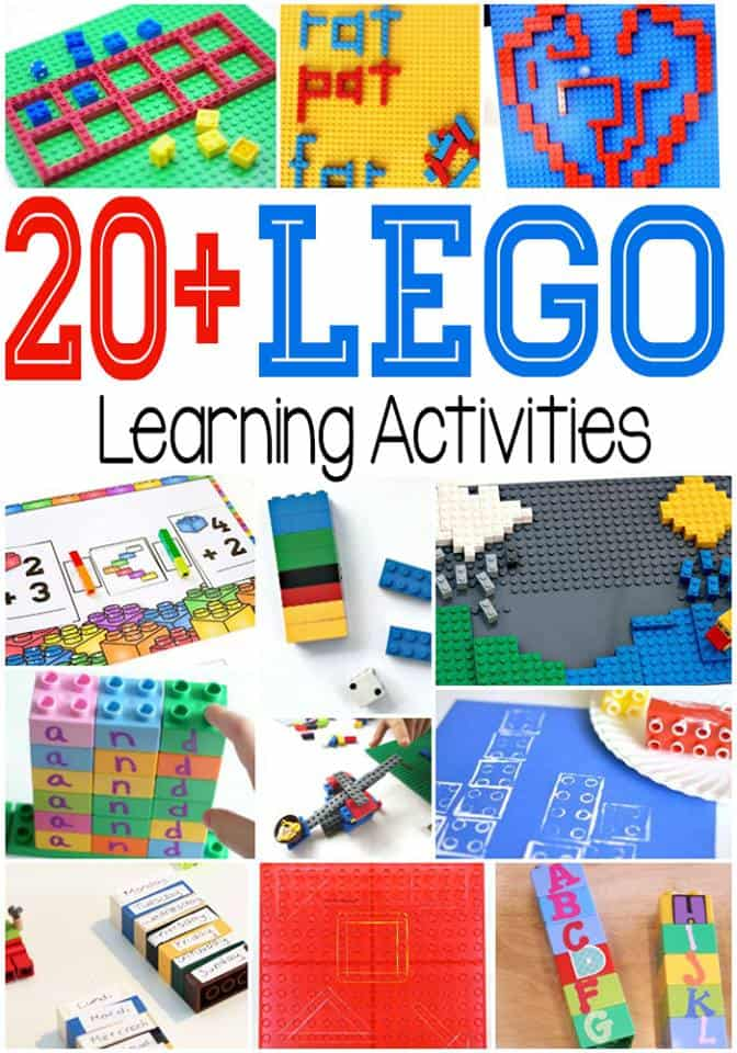 20+ Lego Learning Activities for Kids (from toddler to grade school)