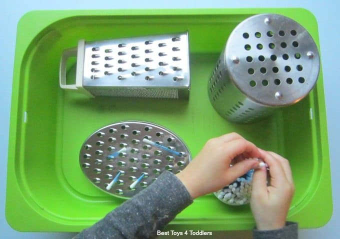 Q-Tip fine motor play