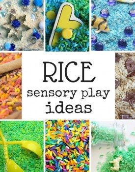33 Rice Sensory Play Ideas for Kids