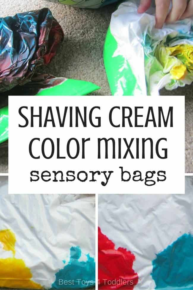 Coloring for Kids color mixing kids : Shaving Cream Color Mixing Sensory Bag - Best Toys 4 Toddlers