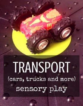 33 Ideas for Transport Themed Sensory Play