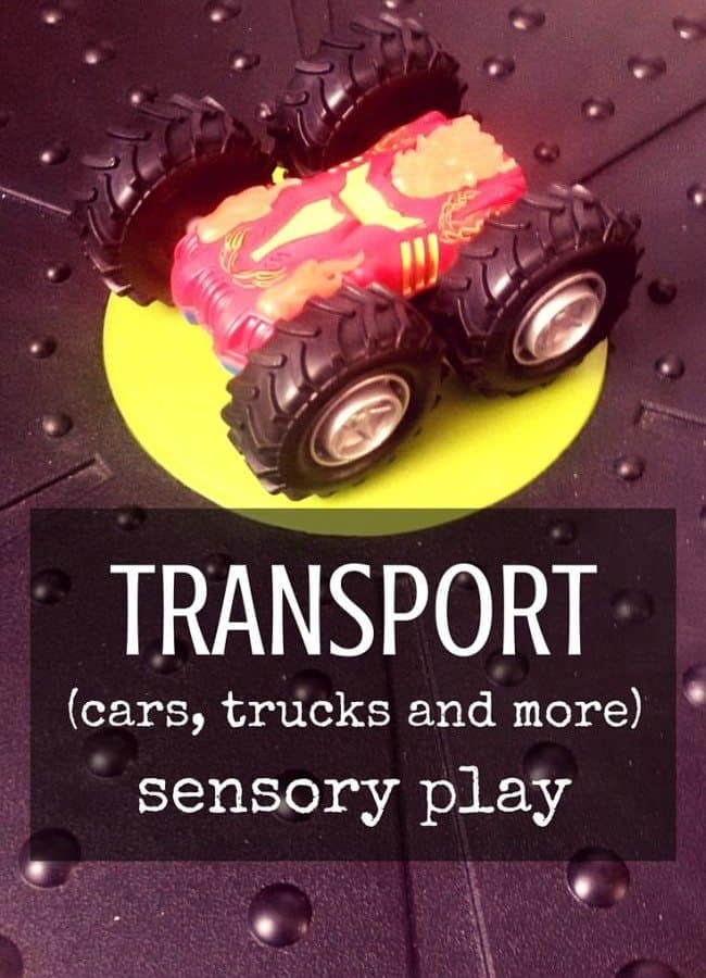 Best Toys 4 Toddlers - 33 ideas for sensory play with cars, trucks, trains and all the other vehicles you have at home! Perfect to add to transportation or community workers unit, in preschool, tot-school or kindergarten!