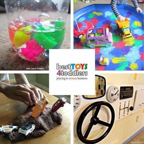 mix vehicles sensory play