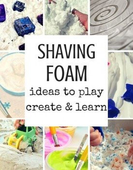 33 Shaving Foam Ideas for Kids to Play, Learn and Create