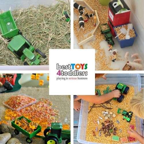 tractor sensory play