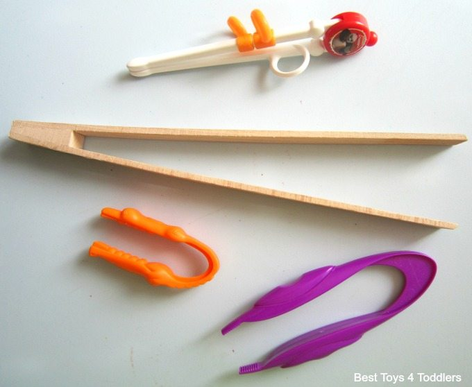 Fine motor tools for sensory bins