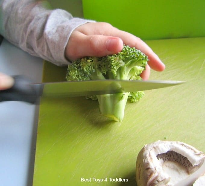 Knife skills for toddlers