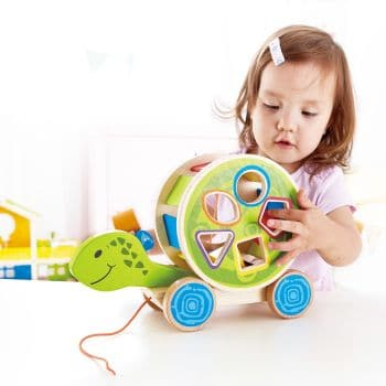 Best Toys 4 Toddlers - Top 10 Sensory Toys for 1 Year Olds - Pull-along turtle shape sorter