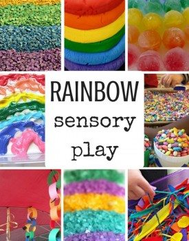 33 Rainbow Sensory Play Ideas for Toddlers and Older Kids