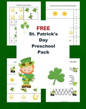 Best Toys 4 Toddlers - Free printable St.Patrick's day pack for preschoolers and kindergarteners