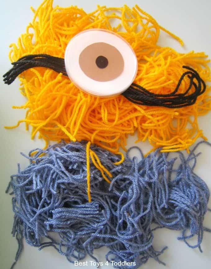 Toddler made Yarn Minion