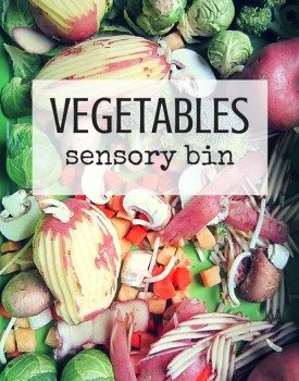 Vegetable Sensory Bin