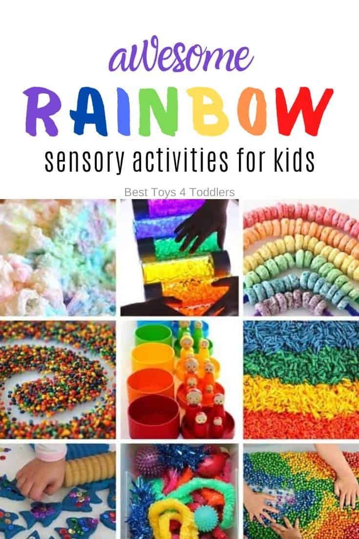 Best Toys 4 Toddlers - 33 Rainbow-themed sensory play ideas for kids to explore different senses and textures