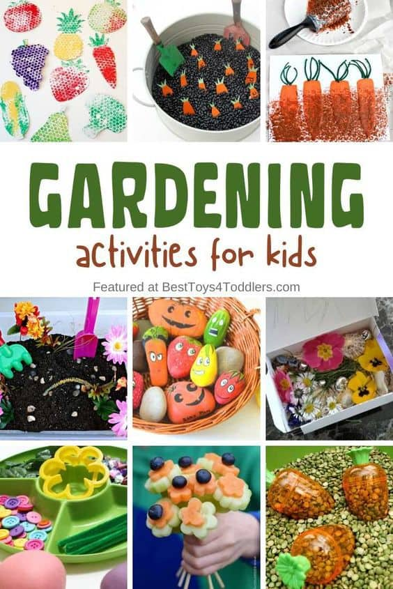 33 ideas for gardening activities for kids - explore garden through play, learning activities,artsand crafts!