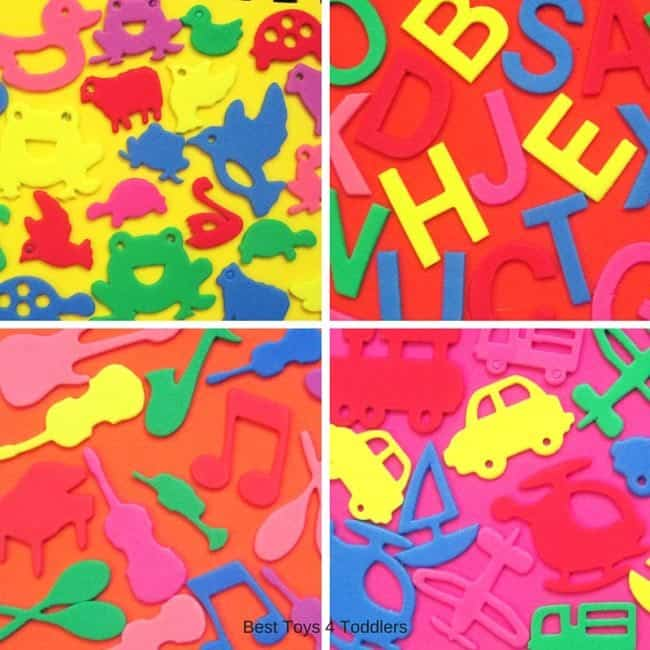 Best Toys 4 Toddlers - easy to make homemade i spy foam book with foam stickers and sheets