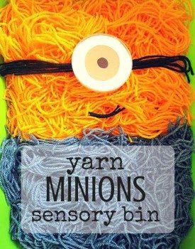 Yarn Minion Sensory Bin