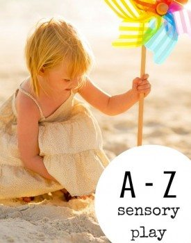 Best Toys 4 Toddlers - A-Z of sensory play - ideas for sensory play for kids through the alphabet