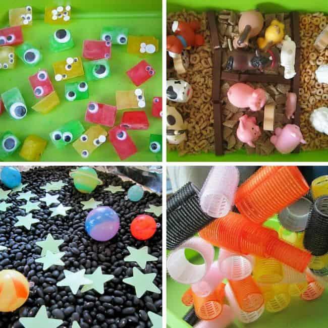 Best Toys 4 Toddlers - EFGH sensory play (eyes, farm, galaxy, hair rollers)