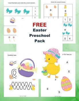 Free Easter Printable Pack for Preschoolers