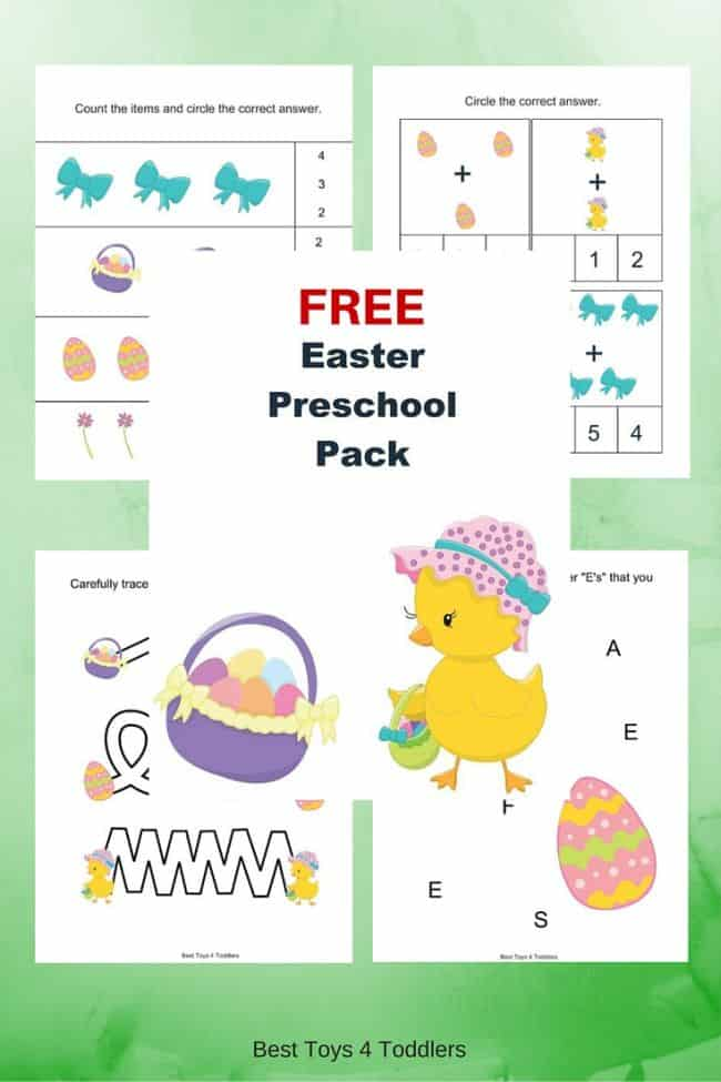 Best Toys 4 Toddlers - Free Easter Printable Pack for Preschool and Kindergarten