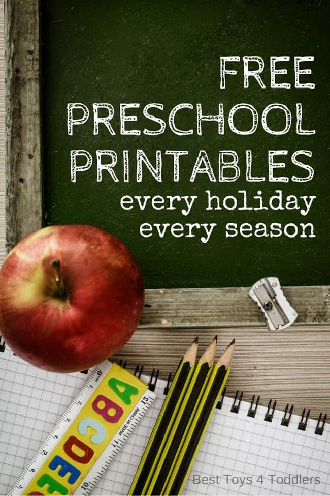 Best Toys 4 Toddlers - Free Preschool Printables, for every holiday and every season, and more!