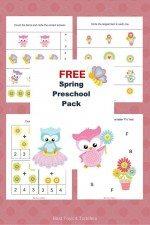Free Spring Printable Pack for Preschoolers