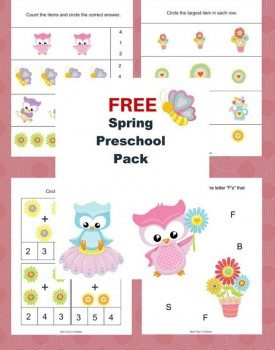 Free Spring Printable Pack for Preschoolers