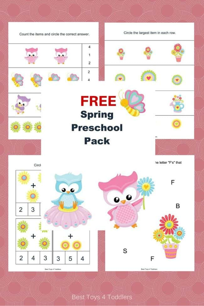 Best Toys 4 Toddlers - Free Spring Printable Pack for Preschool and Kindergarten