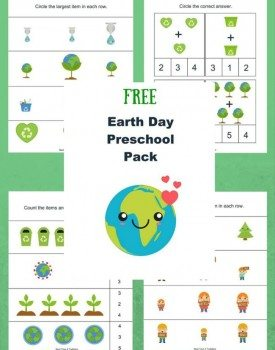 Free Earth Day Printable Pack for Preschoolers
