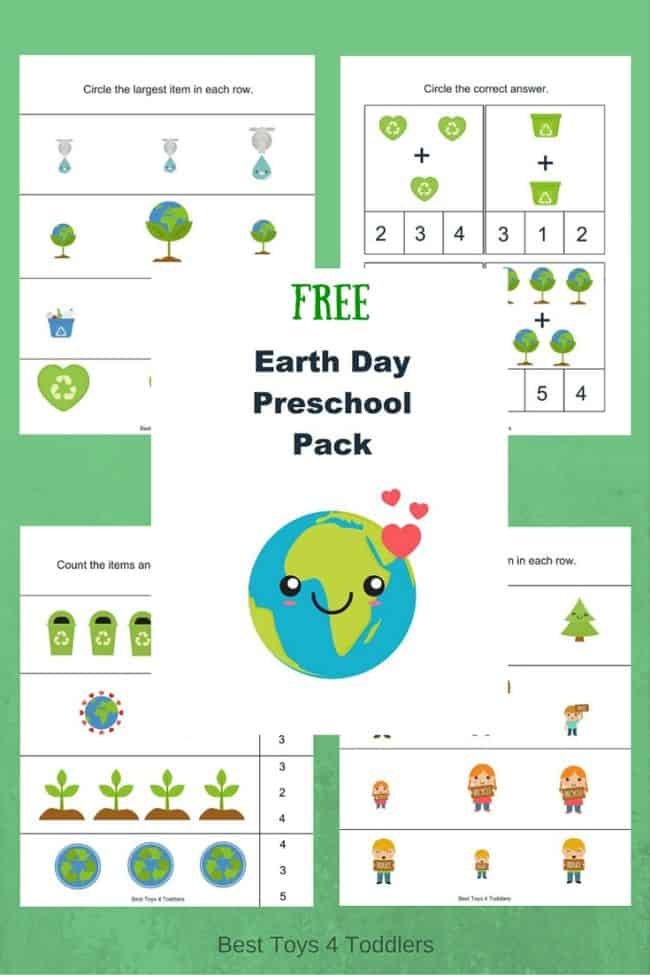 Best Toys 4 Toddlers - Free Earth Day printable pack for preschool and kindergarten
