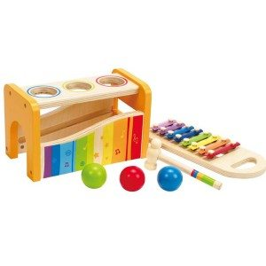 Best Toys 4 Toddlers - Top 10 Toys That Promote Fine Motor Skills for 3 Year olds - Pound and Tap Bench