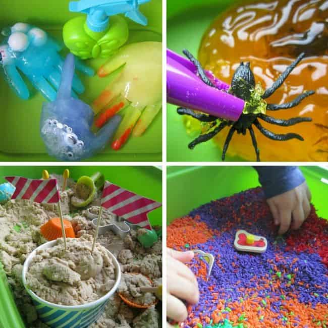 Best Toys 4 Toddlers - IJKL sensory play (ice, jelly, kinetic sand, letters)