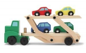 Best Toys 4 Toddlers - Top 10 Toys That Promote Fine Motor Skills for 3 Year olds - Wooden Car Carrier Set