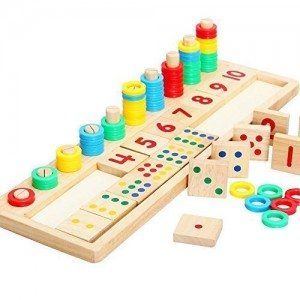 Best Toys 4 Toddlers - Top 10 Toys That Promote Fine Motor Skills for 4 Year olds - Wood Math Blocks