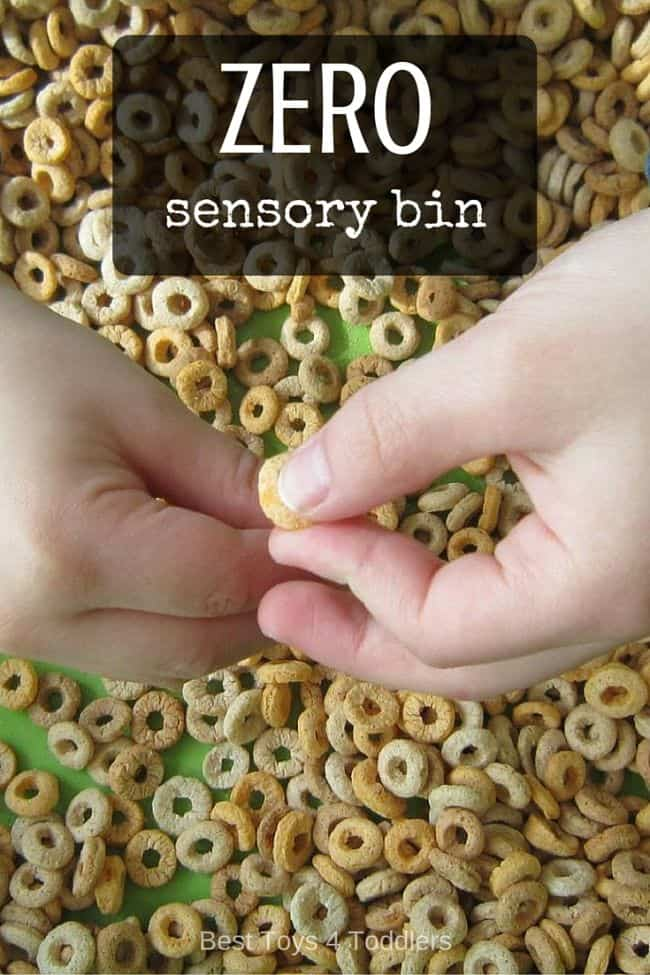 Best Toys 4 Toddlers - Zero sensory bin with no time to preparation, great for threading practice with toddlers