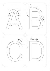 letters with arrows
