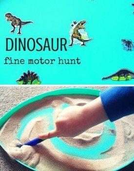Dinosaur Fine Motor Hunt