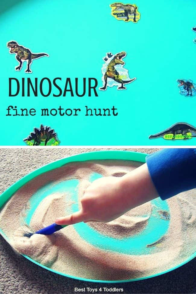 Best Toys 4 Toddlers - Dinosaur hunt and fine motor practice for toddlers and preschoolers