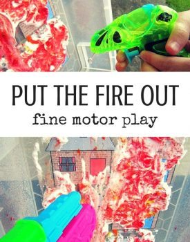 Put The Fire Out Fine Motor Play