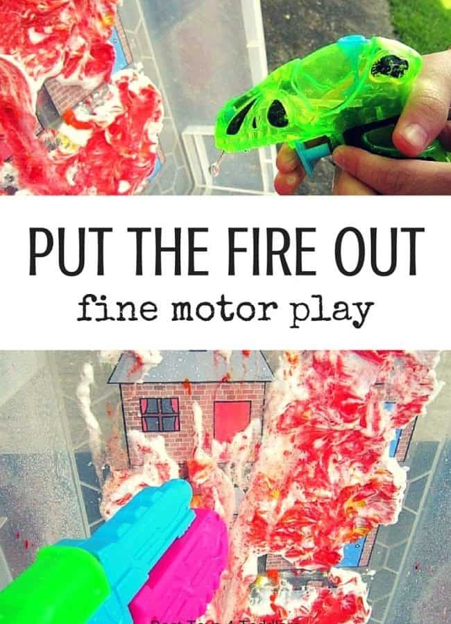 Best Toys 4 Toddlers - Put the fire out - great game for little firefighters to work on fine motor skills
