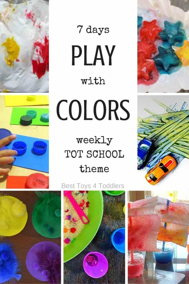 Best Toys 4 Toddlers - 7 days of playful activities to learn about colors with toddlers as a part of tot school weekly themes