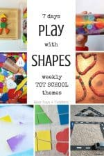 7 Days of Shape Activities for Tot School